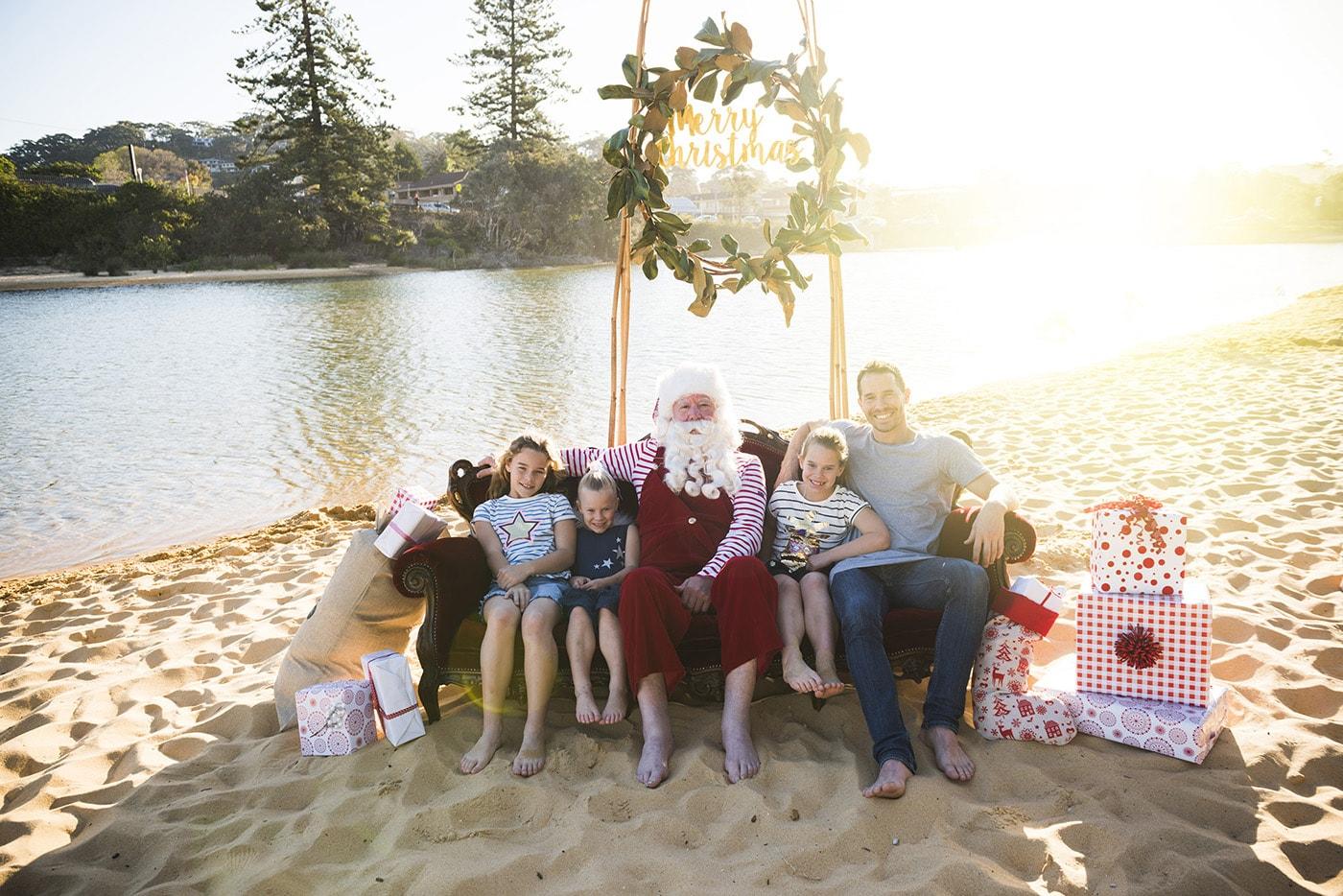 Central Coast Santa On The Beach